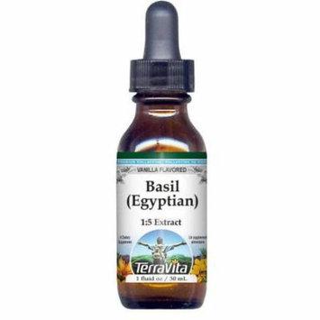 Basil (Egyptian) Glycerite Liquid Extract (1:5) - Vanilla Flavored (1 oz, ZIN: 522079) - 3-Pack