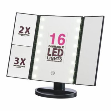 Onyx Professional Vanity Mirror with Dimmable LED Lights, Black