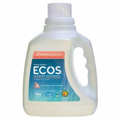 Earth Friendly Products Ecos 2X Ultra Magnolia & Lily All Natural Liquid Laundry Detergent HE 100.0 oz.(pack of 1)