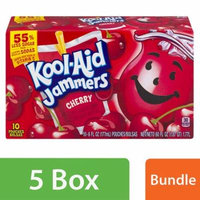(5 Pack) Kool-Aid Jammers Cherry Ready-to-Drink Soft Drink, 10 - 6 fl oz Packets