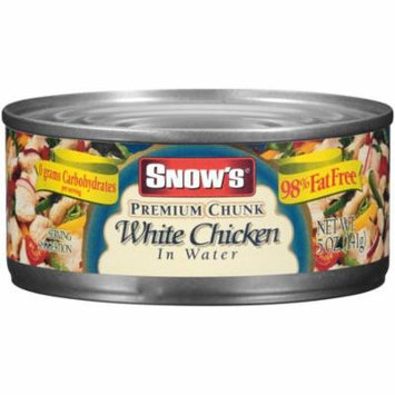 (4 Pack) Snow's Premium Chunk White Chicken in Water, 5 oz Can