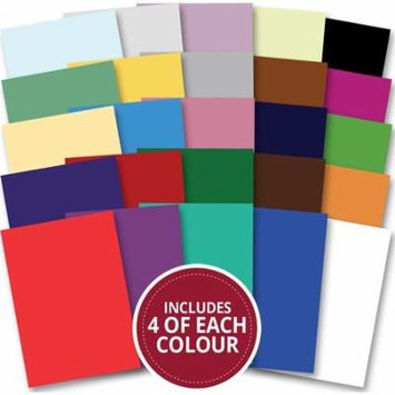 Hunkydory Adorable Scorable A4 Cardstock 100/Pkg-Christmas, 25 Colors/4 Each