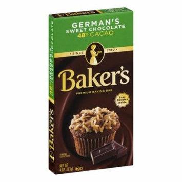 (3 Pack) Baker's Premium German's Sweet Chocolate Baking Bar, 4 oz Box