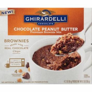 (3 Pack) Ghirardelli Chocolate Peanut Butter Mug Brownie Mix, 9.2-Ounce Box