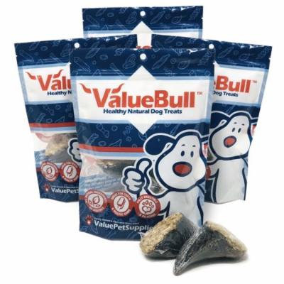 ValueBull Hooves Bully and Rice Filled Dog Chews, 24 Count