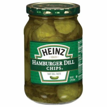 (3 Pack) Heinz Hamburger Dill Chips Pickles, 16 fl oz Jar