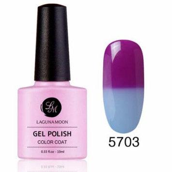 Lagunamoon Temperature Color-Changing Gel Polish Soak Off UV LED Nail Art Long Lasting Varnish Elegant Manicure 5703