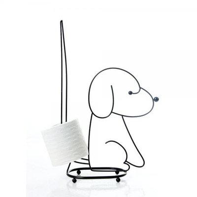 SITTING DOG TOILET TISSUE HOLDER IN CHROME