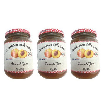 Le Conserve Della Nonna Peach (Pesca) Jam Imported From Italy - 14 Oz. All Natural - 3 Pack