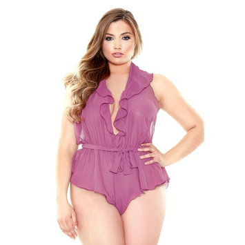 Queen Ruffle Me Up Romper Fantasy Lingerie P183X Orchid