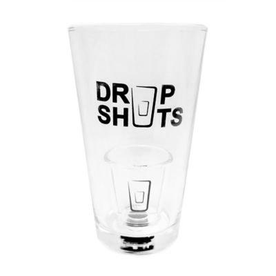 Brookstone Drop Shots Pint Glass Set