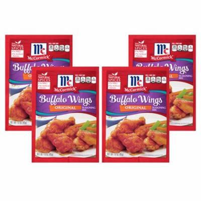 (4 Pack) McCormick Original Buffalo Wing Seasoning Mix, 1.6 oz
