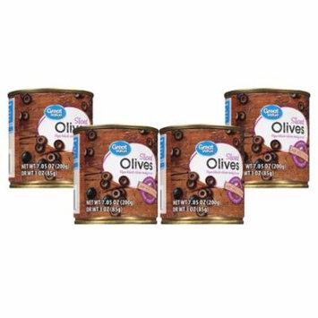 (4 Pack) Great Value Sliced Olives, 7.05 oz