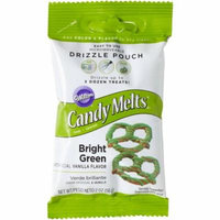 (5 Pack) Wilton Bright Green Candy Melts Drizzle Pouch, 2 oz.