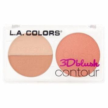 (2 Pack) L.A. Colors CBL804 Honey Bun 3D Blush Contour, 0.28 oz