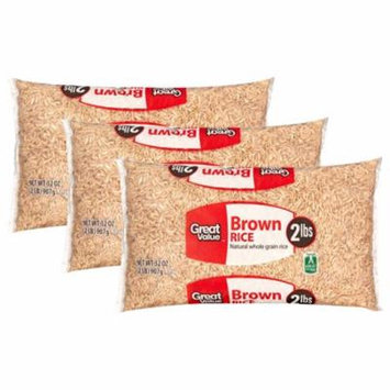 (3 Pack) Great Value Brown Rice, 32 oz