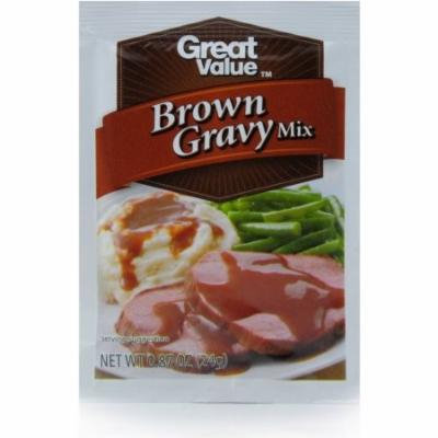 (4 Pack) Great Value Gravy Mix, Brown, 0.87 Oz