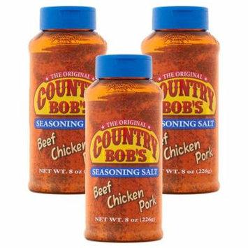 (3 Pack) County Bob's Seasoning Salt, 8 oz