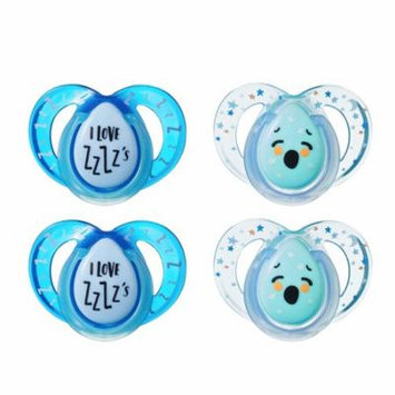 Tommee Tippee Closer to Nature Night Time Infant Pacifier, 6-18m, 4pk, Boy