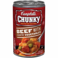 Campbell's Chunky Beef & Country Vegetables Soup (Pack of 8)