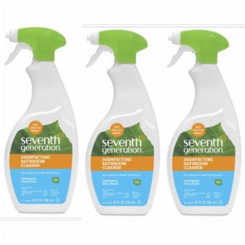 (3 Pack) Seventh Generation Disinfecting Bathroom Cleaner Lemongrass Citrus 26 oz