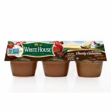 (3 Pack) White House Chunky Cinnamon Apple Sauce, 6 ct, 4 oz
