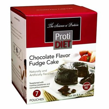 PROTIDIET - High Protein Diet Dessert - Chocolate Fudge Cake - Low Calorie - Low Fat - 7/Box
