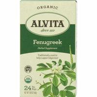 4 Pack - Alvita Organic Herbal Supplement, Fenugreek 24 ea