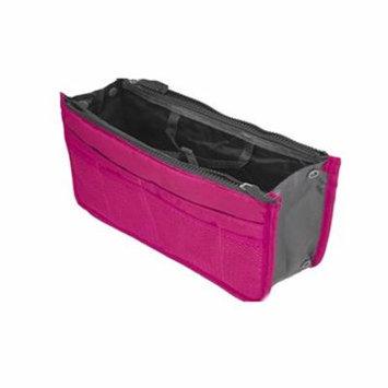 Women\'s Multiple pockets Travel Cosmetic Insert Handbag Pouch Bag Organizer - Pretty Pink 1 Unit