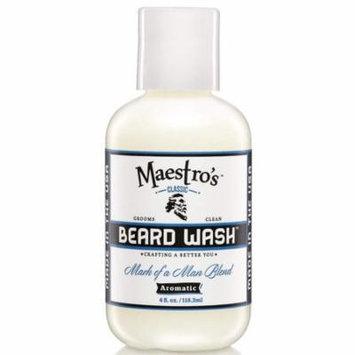 Maestro's Classic Mark of a Man Beard Wash, 4 Ounce