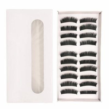 10 Pairs of Fake Eyelashes Long Thick Natural False Eyelashes Set for Beauty Makeup Fake Eye Lashes