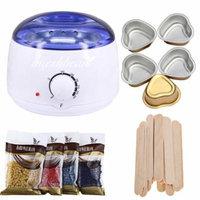 iMeshbean Wax Warmer Heater Pot Machine + 400g Waxing Beans + 20pcs Hair Removal Sticks, White