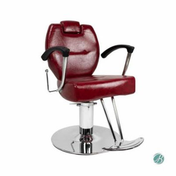 HERMAN All Purpose Styling Chair CRIMSON Perfect for Beauty Salon, Styling Station, Barbershop