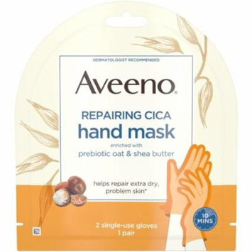 AVEENO Repairing CICA Hand Mask with Prebiotic Oat and Shea Butter for Extra Dry Skin, Paraben-Free and Fragran