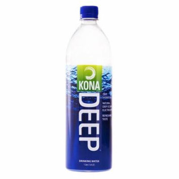 Kona Deep Pure Deep Ocean Electrolyte Mineral Water (1 L), 12 Count