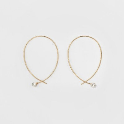 Women's Hoop Earring with Crystal - A New Day™ G