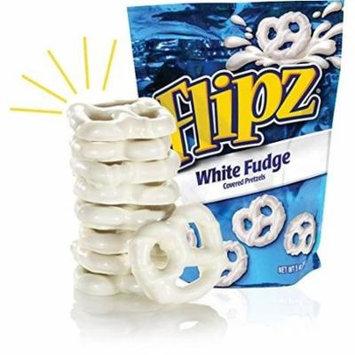 Flipz White Fudge Covered Pretzels (Pack of 8)