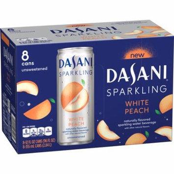 (3 Pack) Dasani Sparkling Water, White Peach, 12 Fl Oz, 8 Count