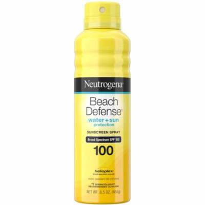 Neutrogena Beach Defense Body Spray Sunscreen with Broad Spectrum SPF 100, Water-Resistant and Oil-Free Sun Pro