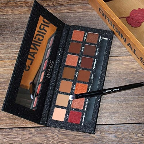 LtrottedJ 14 Color Shimmer Glitter Eye Shadow Powder Matt Eyeshadow ,Cosmetic Makeup