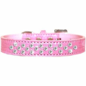 Sprinkles Clear Jewel Croc Dog Collar Light Pink Size 12
