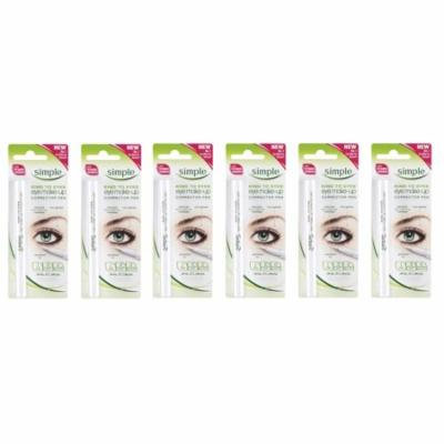 Simple Kind To Eyes Eye Make-up Corrector Pen, Fixes Makeup Mistakes (Pack of 6) + Makeup Blender Sponge