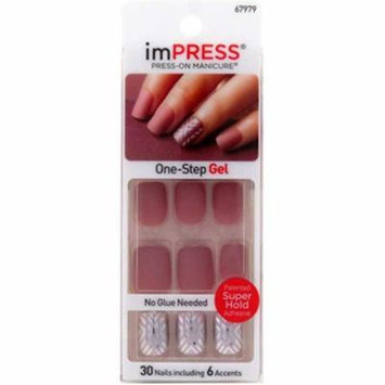 2 Pack - KISS Impress Press-On Nails One Step Gel So Unexpected 1 ea