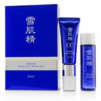 Kose Sekkisei White CC Cream Set: Sekkisei White CC Cream SPF50+ PA++++ - # 02 Ochre 26ml/1oz + Sekkisei Treatment Cleansing Oil 35ml/1.1oz