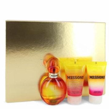 Missoni by Missoni Gift Set -- 1.7 oz Eau De Toilette Spray + 1.7 oz Body Lotion + 1.7 oz Shower Gel-Women