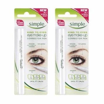 Simple Kind To Eyes Eye Make-up Corrector Pen, Fixes Makeup Mistakes (Pack of 2) + Makeup Blender Sponge