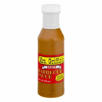 (2 Pack) Mrs. Griffin's Barbecue Sauce Hot, 12.0 FL OZ