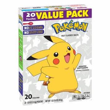 (3 Pack) Betty Crocker Nintendo Pokémon Fruit Flavored Snacks Assorted Fruit, 20 ct