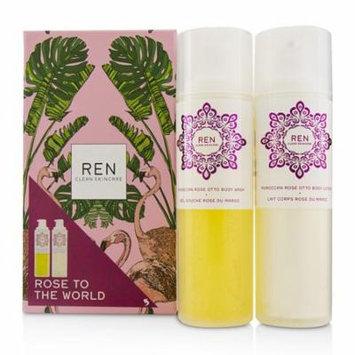 Ren Rose To The World Moroccan Rose Otto Set: Body Wash 200ml + Body Lotion 200ml 2pcs Skincare