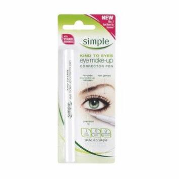 Simple Kind To Eyes Eye Make-up Corrector Pen, Fixes Makeup Mistakes + Makeup Blender Sponge